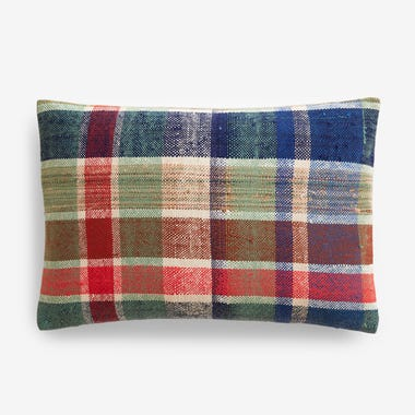 "Elliott Plaid Throw Pillow Cover 12"" x 18"" #3"