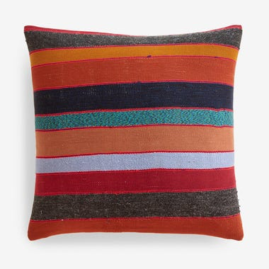 "Fletcher Stripe Throw Pillow Cover 20"" x 20"""