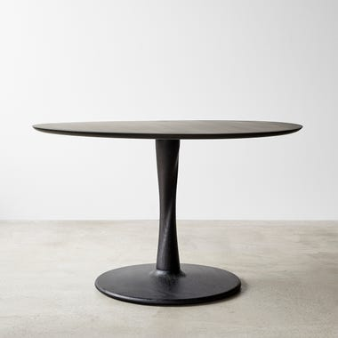 """Euclid Black Round Dining Table 50"""""""