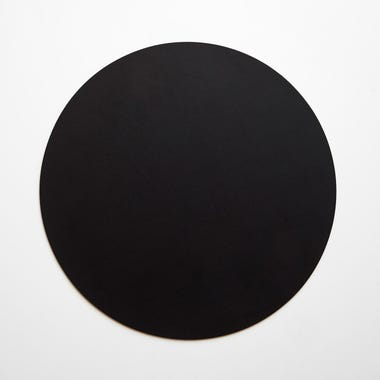 Dot Black Round Leather Placemat