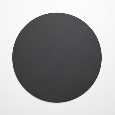 Dot Charcoal Round Leather Placemat