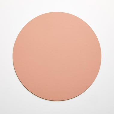 Dot Apricot Round Leather Placemat
