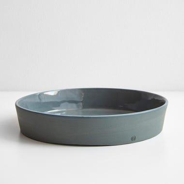 "Chroma Sage Round Tray 7.25"""