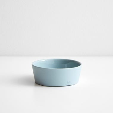 Chroma Blue Gray Round Tray 3.75""