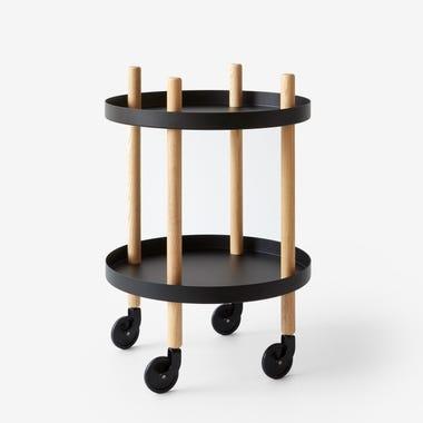 Black Round Block Cart