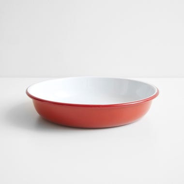 Falcon Red Enamelware Salad Bowl 11""