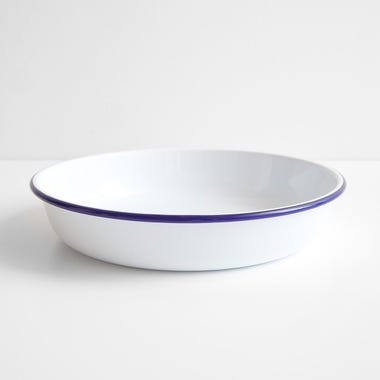 Falcon White Enamelware Salad Bowl 12.25""