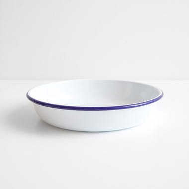 Falcon White Enamelware Salad Bowl 11""