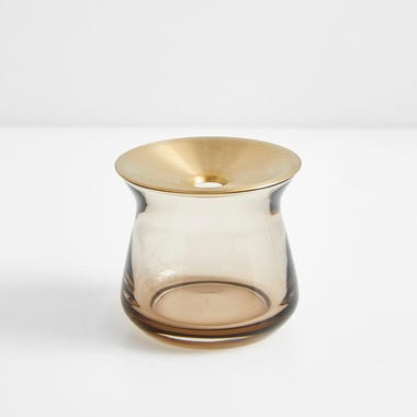 Luna Brown Small Vase