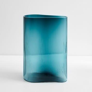 """Mist Petroleum Vase 11.5"""" H"""