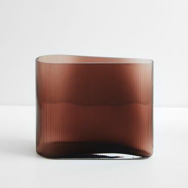 "Mist Caramel Vase 8.25"" H"