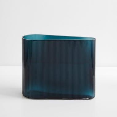 """Mist Petroleum Vase 8.25"""" H"""