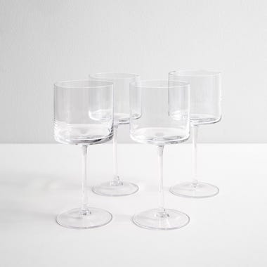 LSA International Otis Red Wine Glasses Set of 4