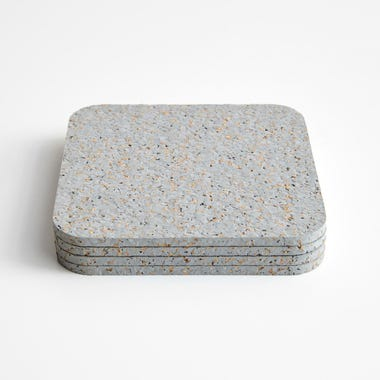 Cork Gray Coasters Set of 4