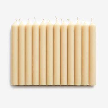 Sand Taper Candles Set of 12