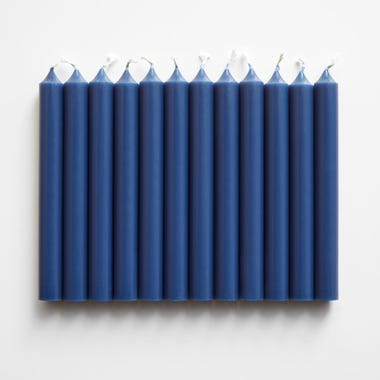 Indigo Taper Candles Set of 12