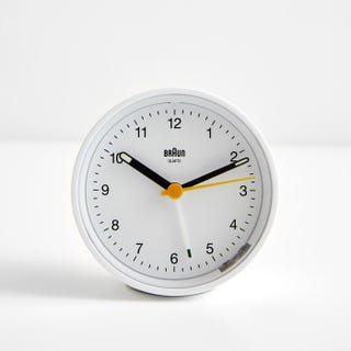 Braun White Classic Round Alarm Clock