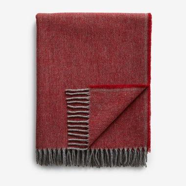 Jackson Red Wool Throw Blanket
