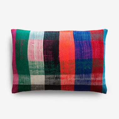 "Durham Plaid Throw Pillow Cover 12"" x 18"""