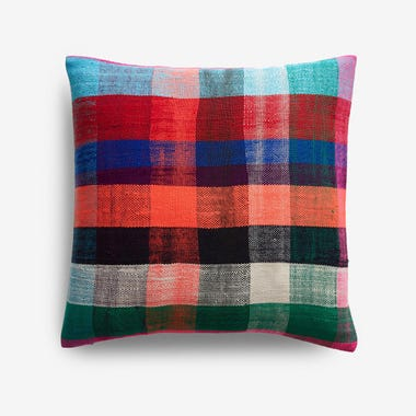 "Durham Plaid Throw Pillow Cover 17"" x 17"""