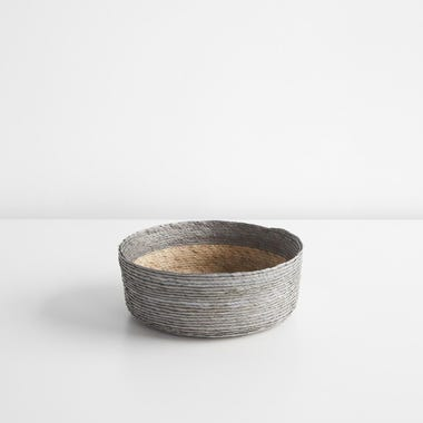 Gray Band Round Basket 8""
