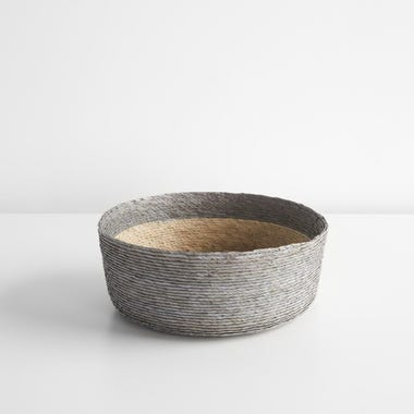 Gray Band Round Basket 10""