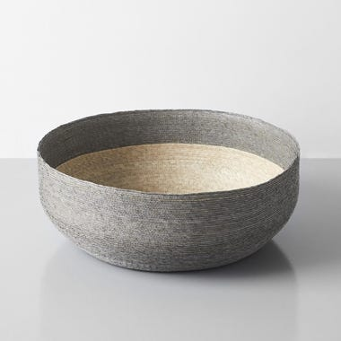 Gray Band Round Nido Basket