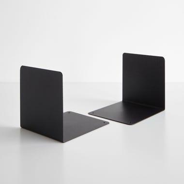 Black Steel Bookends Set of 2