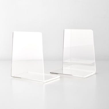 Clear Acrylic Bookend Set of 2