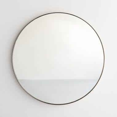 Pewter Round Wall Mirror 30""