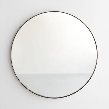 Black Round Wall Mirror 30""