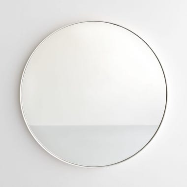 White Round Wall Mirror 30""