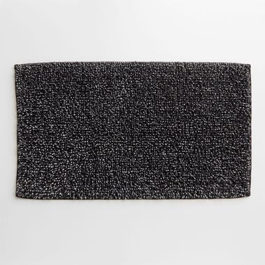 Foster Black Bath Mat