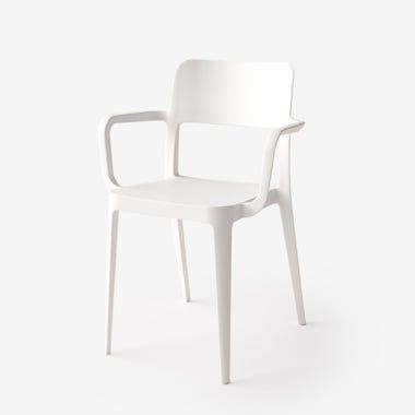 Nene White Armchair
