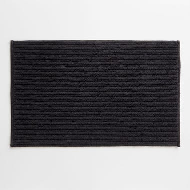 Division Black Bath Mat