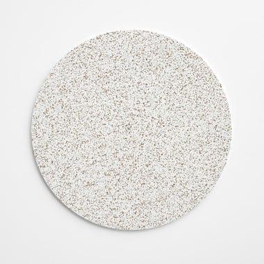 "Cork White Round Mat 11.5"""