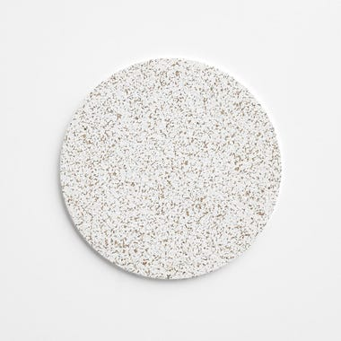 "Cork White Round Mat 7"""