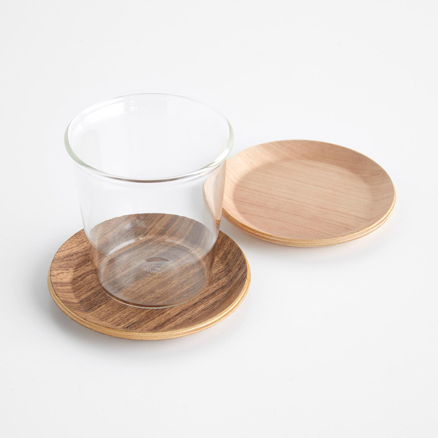 Cast Teak + Birch Coasters