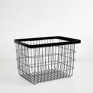 Tower Black Medium Floor Basket
