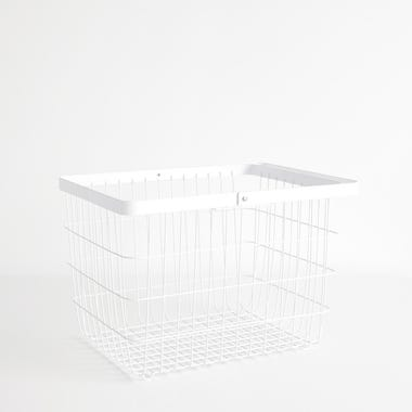 Tower White Medium Floor Basket