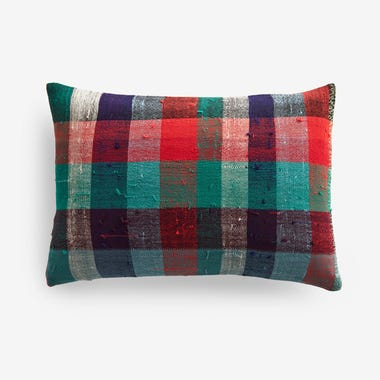 "Stuart Plaid Throw Pillow Cover 12"" x 18"""