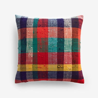 "Stuart Plaid Throw Pillow Cover 17"" x 17"""