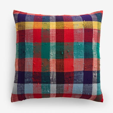 "Stuart Plaid Throw Pillow Cover 20"" x 20"""