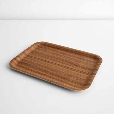 Non-Slip Teak Large Tray