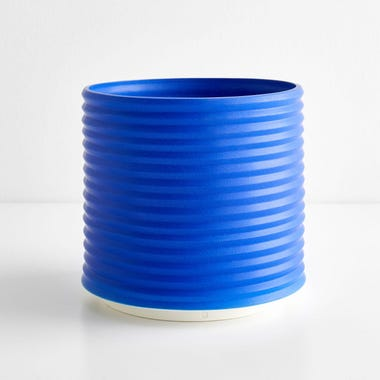 Oblique Electric Blue Planter