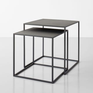 Fera Black Nesting Tables Set of 2