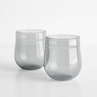 Angle Bell Smoke Double Old Fashioned Glasses Set of 2