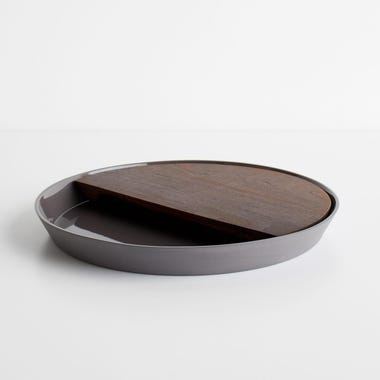 Eclipse Charcoal Round Platter