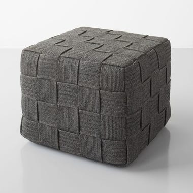 Cube Dark Gray Ottoman