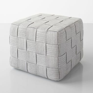 Cube Light Gray Ottoman